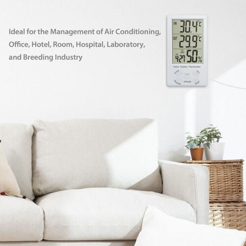 Indoor/Outdoor Thermometer Digital LCD Hygrometer Meter Temperature Humidity  IU 4