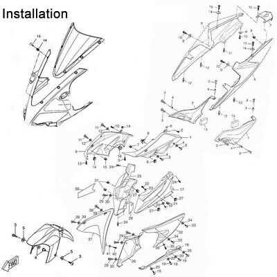 200x Complete Fairing Bolt Kit body screws Clip For 1994-1998 Honda RVF400R NC35