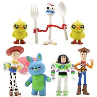 Toy Story 4 Fokry Woody Buzz Lightyear Jessie LOT DE 7 FIGURINES JOUET CADEAU 3