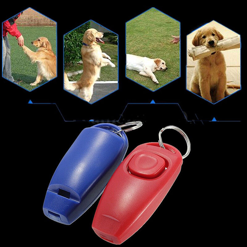 Dog Clicker & Whistle- Training,Obedience,Pet Trainer Click Puppy With Guide Hot 4