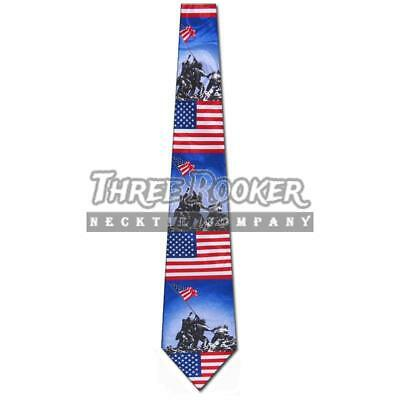 Flag Tie War Neckties Mens Marine Memorial Monument Neck Ties Brand New