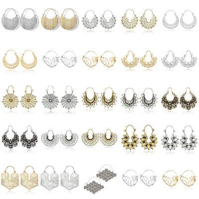 Fashion Bohemia Jewelry Vintage Silver Ear Hook Drop Dangle Tassel Bead Earrings 12