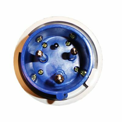 63A 3 Pin Plug 230V Waterproof IP67 Industrial 2P+E Blue Single Phase 63 Amp 4