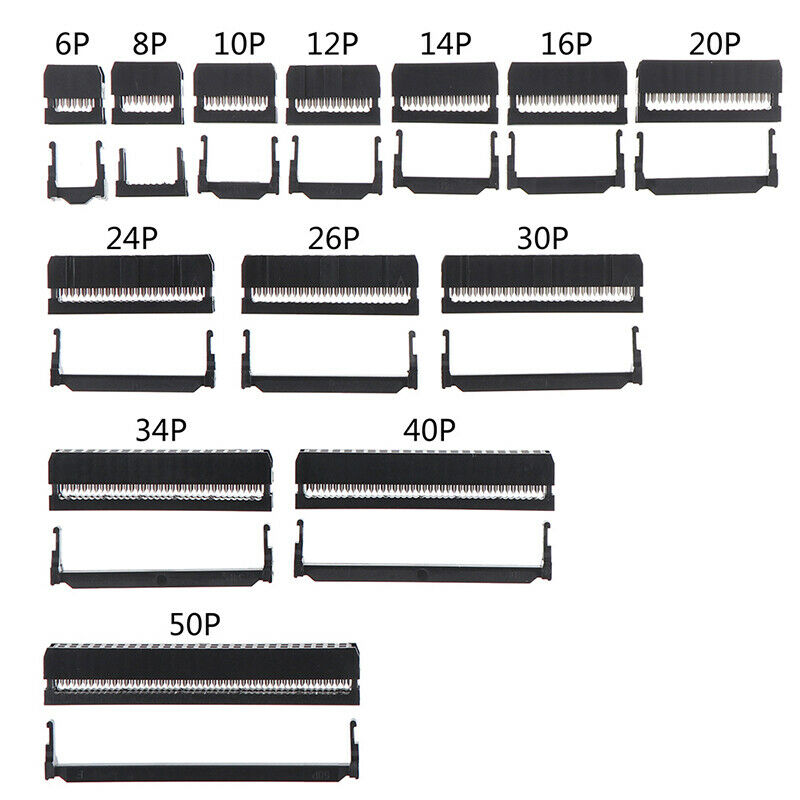 10x 6/8/10/12/14-50Pin IDC Socket Plug Ribbon Cable Connector 2.54mm Pitch xiSBF 2