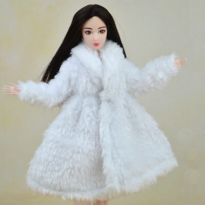 Kid Playhouse Toy Doll Accessories Winter Wear Pink Coat Clothes For 1/6 Doll 8