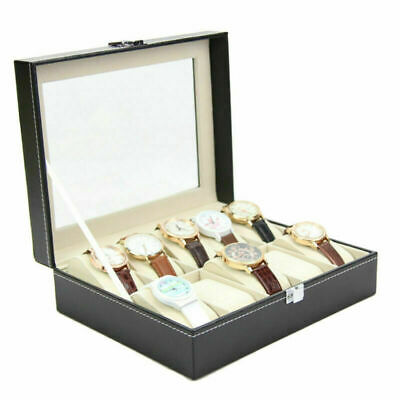 Box Scatola Porta Per 10 Orologi Custodia Portaorologi Con Vetrina 7