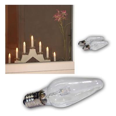 3x LED E10 Remplacement Glühbrine Coup de Vent Pour Lumières Arches Ampoule Warm