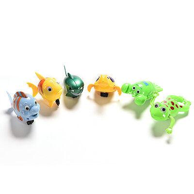 Wind-up Frog Swimming NPol Bath Time Animal Clockwork Floating Kid Baby Toy TWUK 4