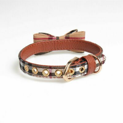 Adjustable Dog Cat Necklace Bow Tie Leather Collars Puppy Kitten Pet Accessories 6