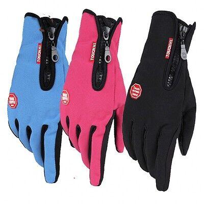 Wasserdicht Thermo Winter Handschuhe Finger Touch klappbar Sport Warm Gloves -DE 7