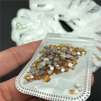 46 colors 2-5mm 400pcs Nail Art Rhinestones Crystal Gems 3D Tips DIY Decoration 6