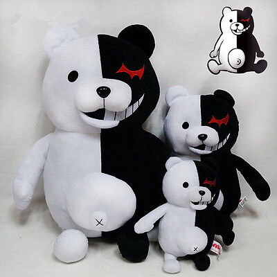 "25cm/9.8"" Danganronpa Monokuma Black&White Bear Dangan Ronpa Soft Plush Toy Doll 3"