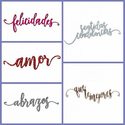 Romantic Spanish Words Metal Cutting Dies Stencil Diy Scrapbook Album Embossing 4