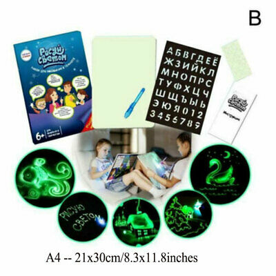 Light Drawing Board Sketch Pad Doodle Writing Craft Art for Children Kid Gift US 11