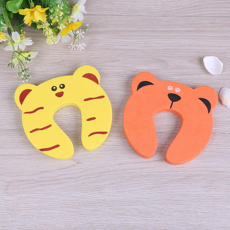 6X Baby safety foam door jammer guard finger protector animal design L~ 6
