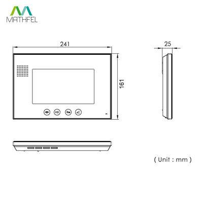 """4 Draht Video Türsprechanlage mit Codeeingabe und 2 x 7"""" Monitor (weiß) 5"""