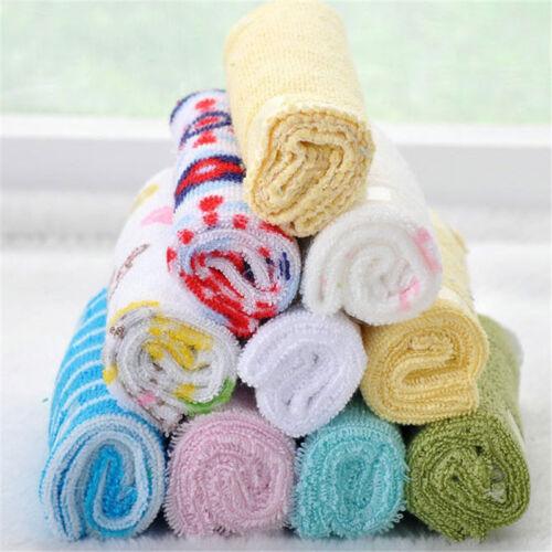 Baby Feeding Cloth Kids Bath Towel Washcloth Bathing Feeding Wipe Soft Cloth 8PC 8
