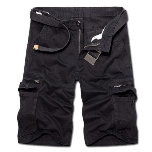 Mens Army Cargo Shorts Work Camping Fishing Camouflage Outdoor Pants Trousers 7