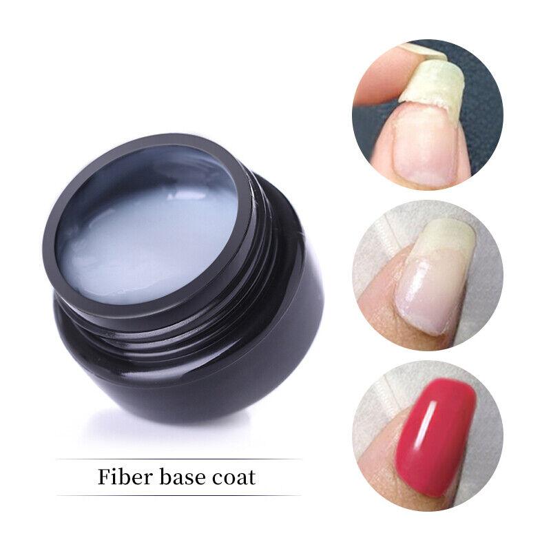 LILYCUTE 5ml Fiber Base Coat Soak Off UV Gel Polish Strengthening Broken Nails 4