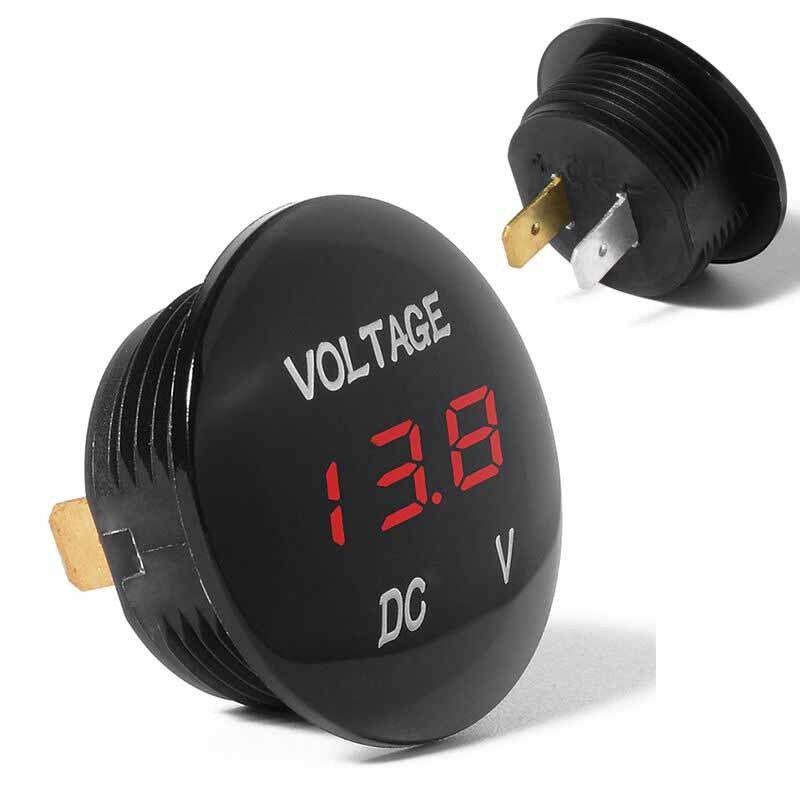 DC 12V/24V Car LED Light Panel Digital Voltage Volt Meter Display Voltmeter Tool 4