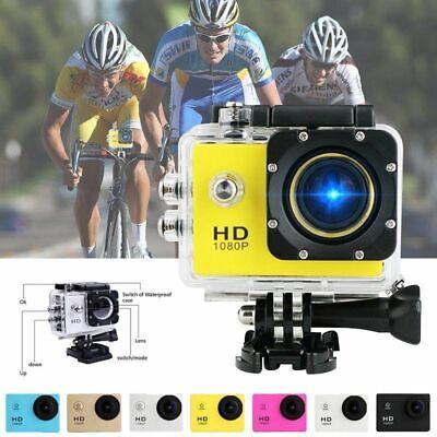 """Camara DEPORTIVA 2.7K Ultra HD 12MP 2"""" sumergible con kit de accesorios 2"""
