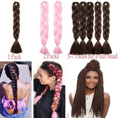 Colored Crochet Hair Extensions Kanekalon Hair Synthetic Braids Jumbo Braiding 6