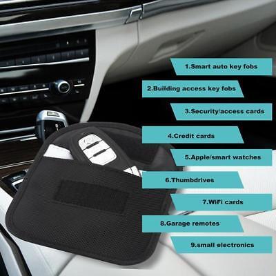 2x Car Key Keyless Entry Fob Signal Blocker Wallet Faraday Bag Pouch Case Large 5