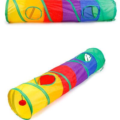 1 Funny Tunnel Tent Agility Cat Training Folding Pet Agility Play Toys HC 2
