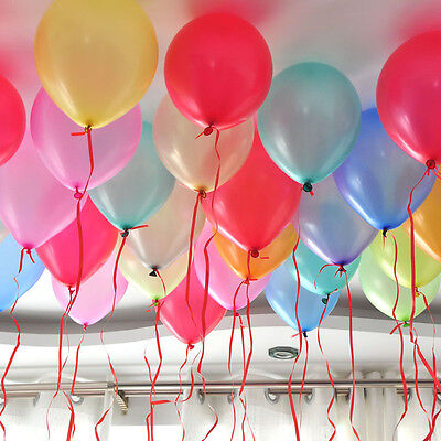 100pcs 10 inch Colorful Pearl Latex Balloon Celebration Party Wedding Birthday 3
