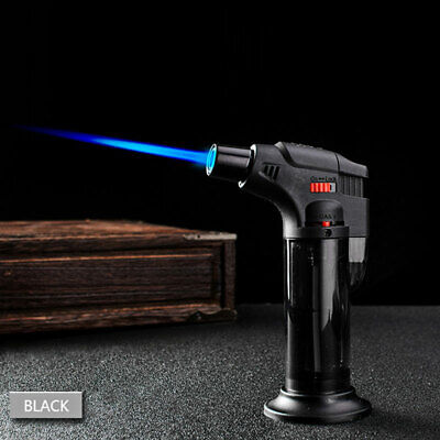 Windproof Refillable Lighter Butane Inflatable Torch Fuel Jet Flame Outdoors CM 9