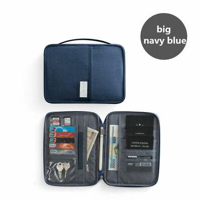 Family Passport Holder Travel Wallet Ticket Document Organiser Bag Multi-purpose 12