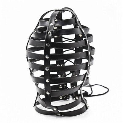 Leder harness kopf bondage gürtel bdsm haube maske sex spielzeug slave fetisch 5