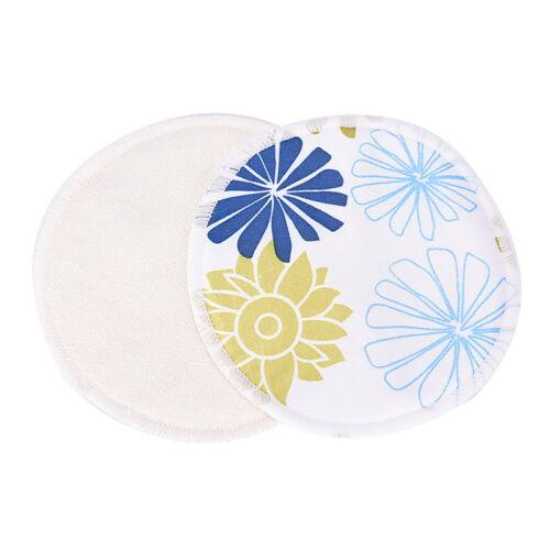 Bamboo Reusable Breast Pads Nursing Maternity Organic Washable Pad WaterproofGNC 7