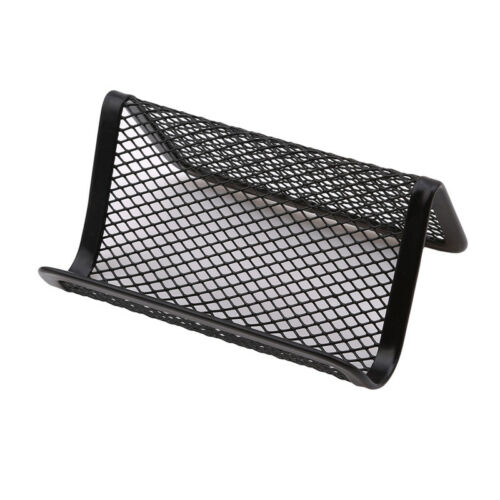 1XMetal Wire Mesh Business Card Display Holder Office Desk Phone Stand Practicl 5