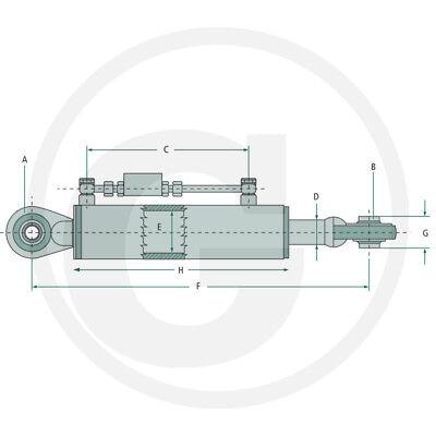Hydraulischer Oberlenker Kat.1 410-570 Hydraulikzylinder Traktor Komplettset