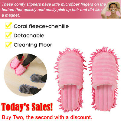 Pair Mop Slippers Lazy Floor Foot Socks Shoes Quick Polishing Easy Cleaning Dust 4