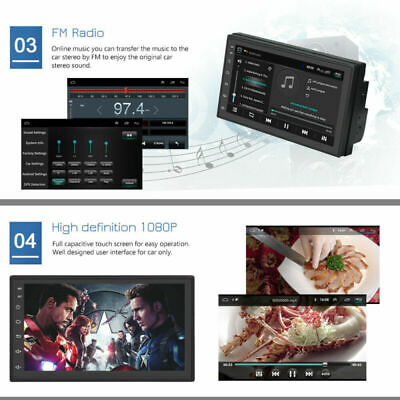 "7"" Android 8.1 AUTORADIO mit GPS Navigation NAVI BLUETOOTH WIFI DOPPEL 2 DIN MP3 4"