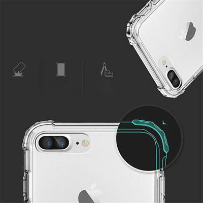 For iPhone 11 Pro XS Max XR X 8 7 6 5 Shockproof Transparent Silicone Case Cover 6