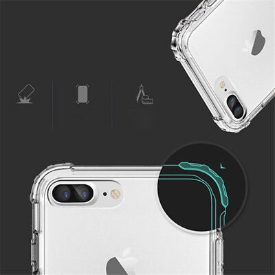For iPhone XS Max XR X 8 7 6 5 Shockproof Bumper Transparent Silicone Case Cover 5