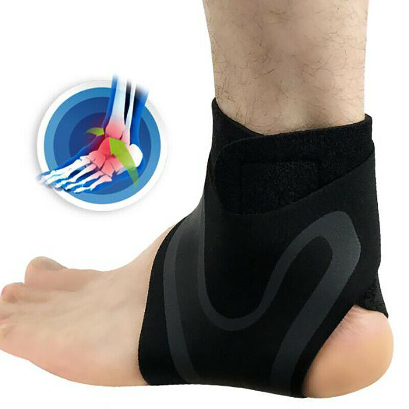 Adjustable Ankle Support Brace Foot Sprains Injury Pain Wrap Guard Protector 2