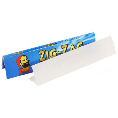 Full Box of 50 Booklets Zig Zag Blue Slim King Size Cigarette Rolling Paper 3
