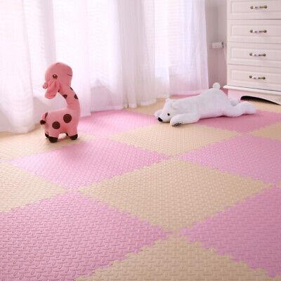 4 Tiles Home Yoga Gym Fitness Interlock EVA Foam Floor Mat Puzzle Baby Kids Play 5