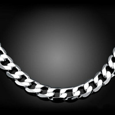 2-12mm Men's Stainless Steel Silver 316L Curb Link Chain Chunky Necklace 5