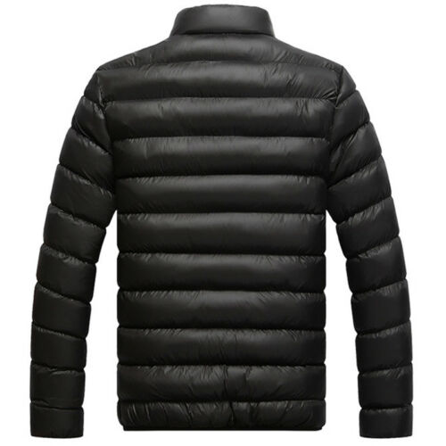 Men's Winter Lightweight Down Jacket Quilted Padded Puffer Coat Outwear Overcoat 4