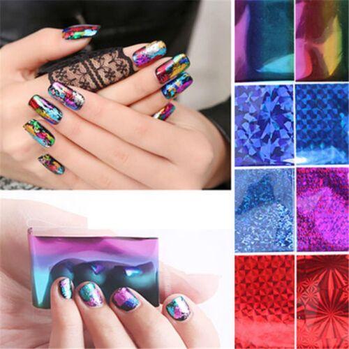 20pcs Foils Finger Nail Art Sticker Decal Diy Transfer Stickers Tips