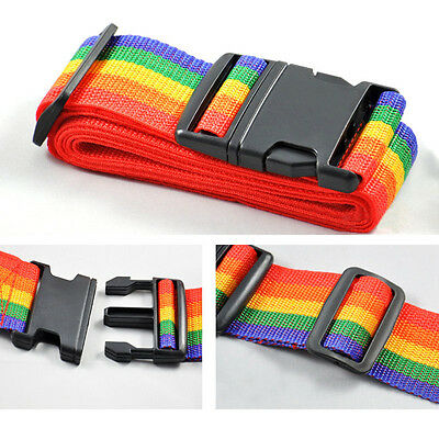 Rainbow Travelling Backpack Luggage Suitcase Strap Adjustable Nylon Strapping 3
