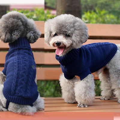 Popular Pet Cat Dog Knitted Jumper Sweater Winter Puppy Warm Coat Jacket Clothes 6