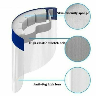 Visiera Di Protezione Schermo Viso Trasparente Plexiglass Paraschizzi Protettiva 3