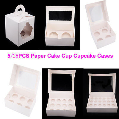 Cupcake Box Cases 1 hole 2 hole 4 hole 6 hole 12 hole 24 hole Window Face Gift 3