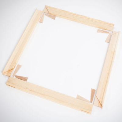 Keilrahmen Bausatz 2 cm Holzleisten Set selbst zusammenbauen ohne Leinwand 5